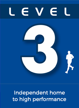 Level 3: Independent home to high performance